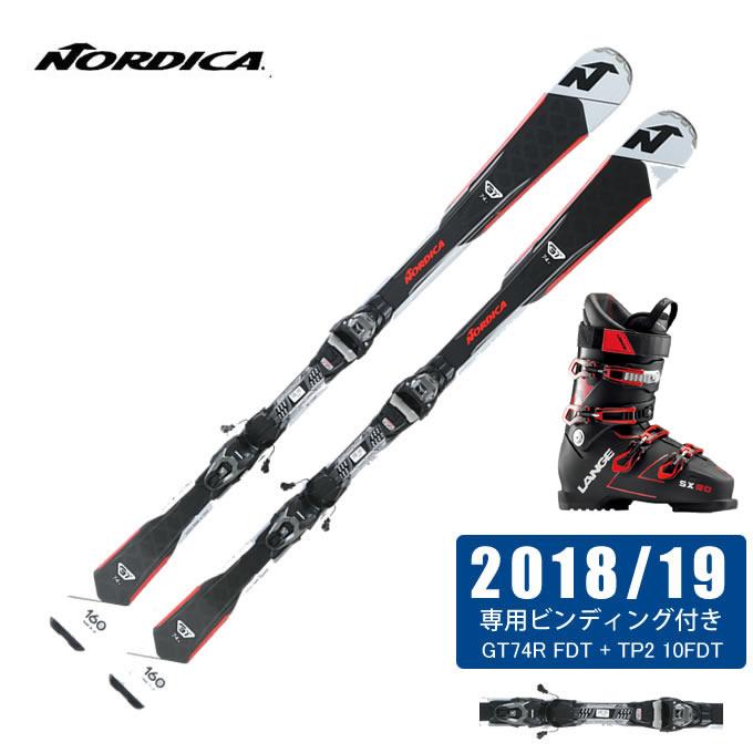 ノルディカ NORDICA スキー板 3点セット メンズ GT74R FDT + TP2 10FDT + SX 90