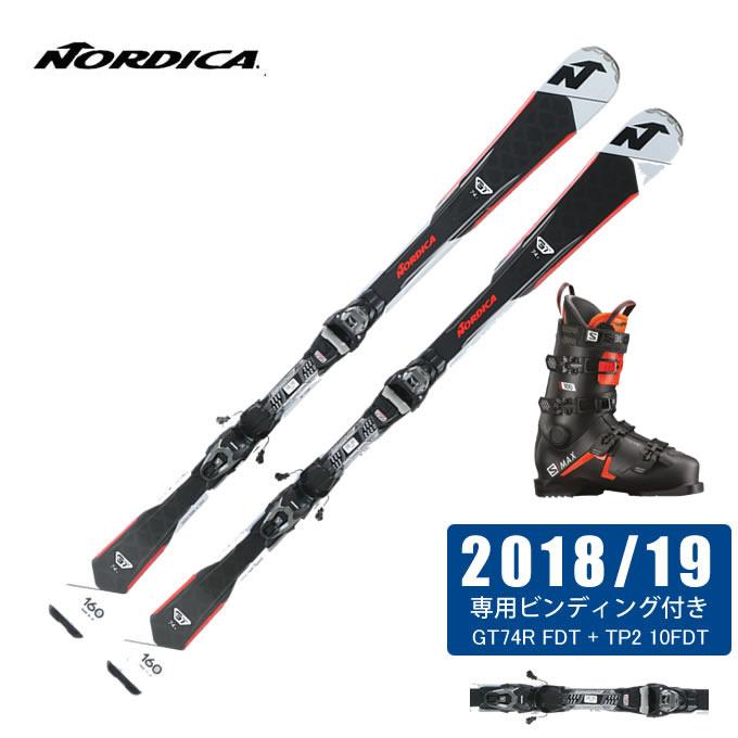 ノルディカ NORDICA スキー板 3点セット メンズ GT74R FDT + TP2 10FDT + S/MAX 100