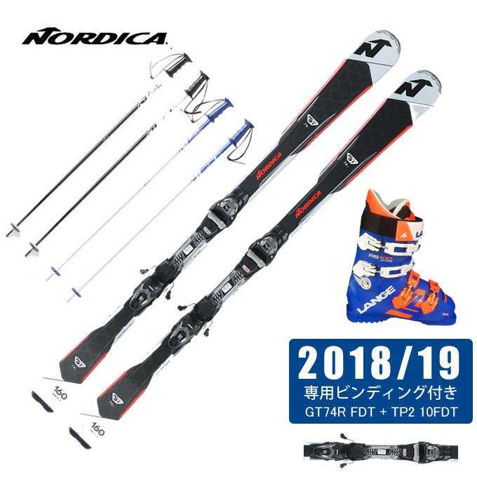 【1/27 20:00~1/28 1:59はクーポン利用で4500円引 】 ノルディカ NORDICA スキー板 4点セット メンズ GT74R FDT + TP2 10FDT + RS 100 S.C.WIDE + CX-FALCON