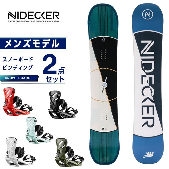 ナイデッカー NIDECKER スノーボード 2点セット メンズ ボード+ビンディング SHIFTY JAPAN LTD + RHYTHM
