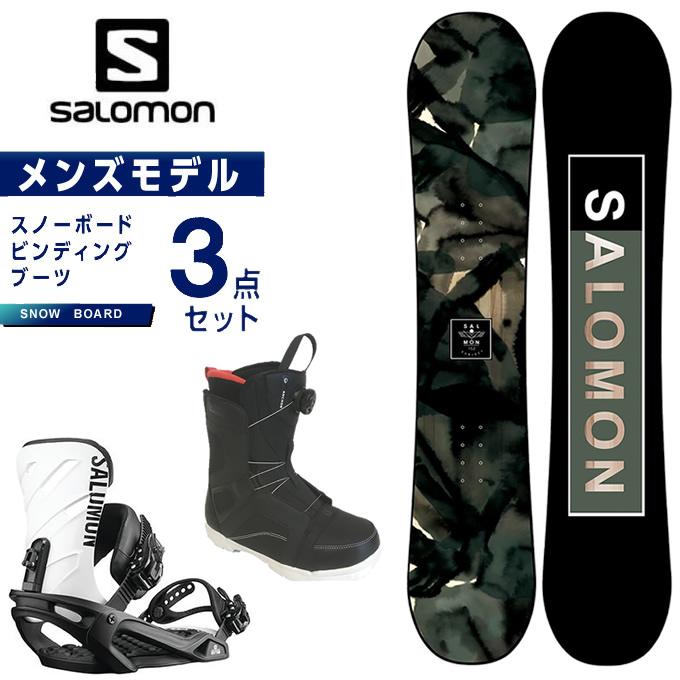 【スノーボードクーポンで10%OFF 12/19 20:00~12/26 1:59】 サロモン スノーボード 3点セット メンズ ボード+ビンディング+ブーツ SUBJECT MEN + RHYTHM BK/WHT リズム salomon