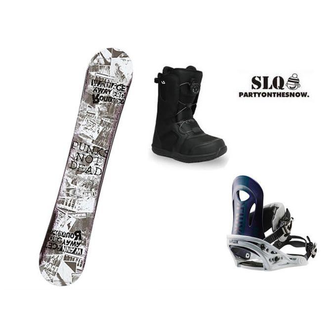 エスエルキュー SLQ スノーボード 3点セット メンズ PUNK ROCKER+PR NV+SUPERB ボード+ビンディング+ブーツ