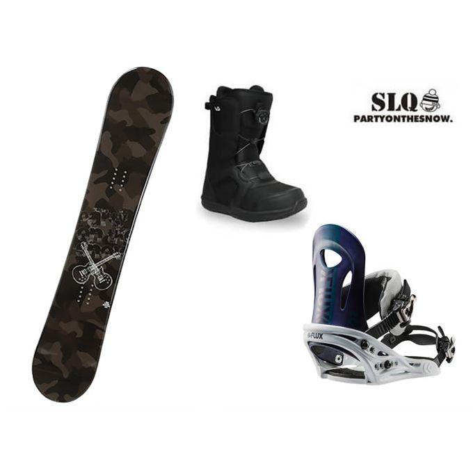 エスエルキュー SLQ スノーボード 3点セット メンズ CAMO ROCKER+PR NV+SUPERB ボード+ビンディング+ブーツ