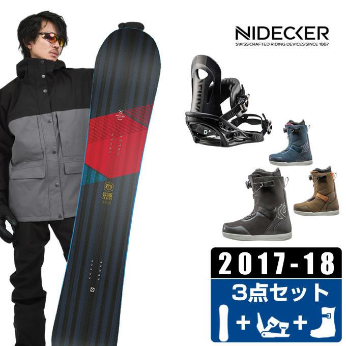 ナイデッカー NIDECKER スノーボード 3点セット メンズ SCORE + BASIC series PR + FL-BOA ボード+ビンディング+ブーツ