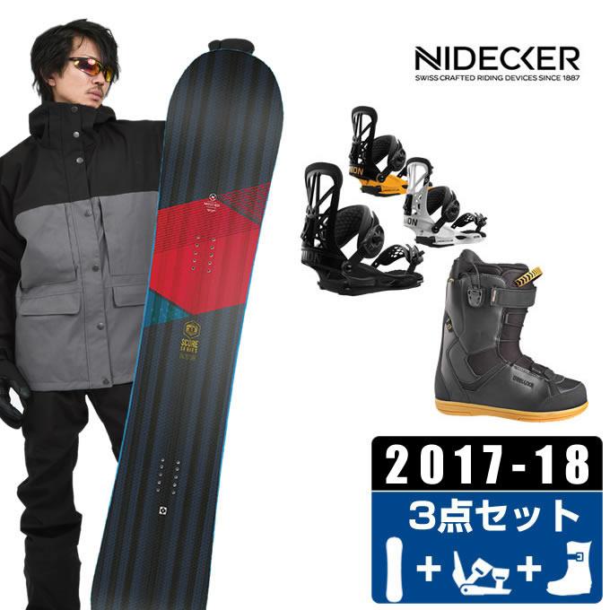 ナイデッカー NIDECKER スノーボード 3点セット メンズ SCORE + FLITE PRO + CRUISE CF ボード+ビンディング+ブーツ