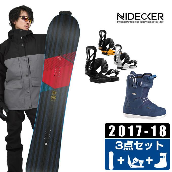 ナイデッカー NIDECKER スノーボード 3点セット メンズ SCORE + FLITE PRO + TEAM ID PF ボード+ビンディング+ブーツ