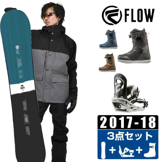 フロー FLOW スノーボード 3点セット メンズ SHIFTY BLUE JAPAN LTD + PR + FL-BOA ボード+ビンディング+ブーツ
