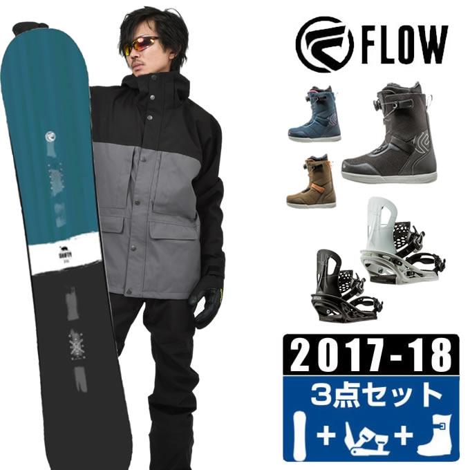 フロー FLOW スノーボード 3点セット メンズ SHIFTY BLUE JAPAN LTD + TT + FL-BOA ボード+ビンディング+ブーツ