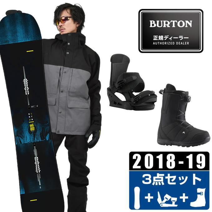 バートン BURTON スノーボード 3点セット メンズ INSTIGATOR + Custom Re:Flex + MOTO BOA ボード+ビンディング+ブーツ