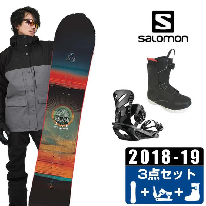 サロモン salomon スノーボード 3点セット メンズ PULSE + RHYTHM +ANCHOR BOA ボード+ビンディング+ブーツ