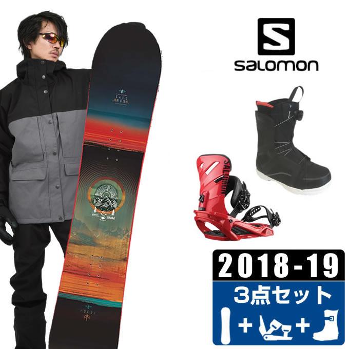 【クーポン利用で1000円引 11/18 23:59まで】 サロモン salomon スノーボード 3点セット メンズ PULSE + RHYTHM + ANCHOR BOA ボード+ビンディング+ブーツ