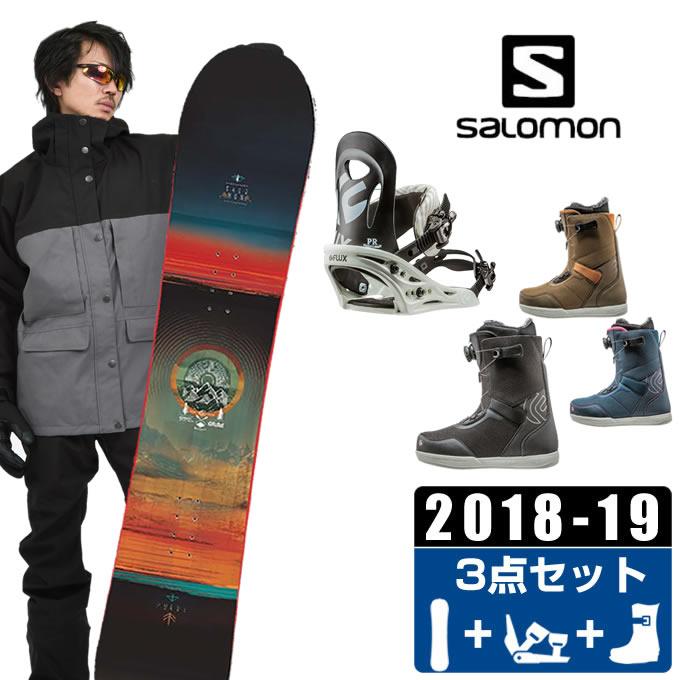 サロモン salomon スノーボード 3点セット メンズ PULSE + PR + FL BOA ボード+ビンディング+ブーツ