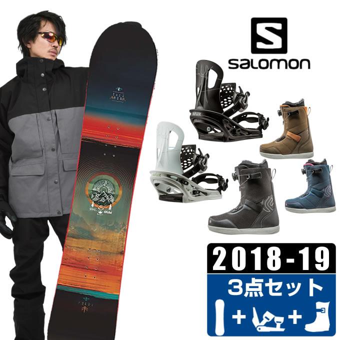 【1/27 20:00~1/28 1:59はクーポン利用で4500円引 】 サロモン salomon スノーボード 3点セット メンズ PULSE + TT + FL BOA ボード+ビンディング+ブーツ