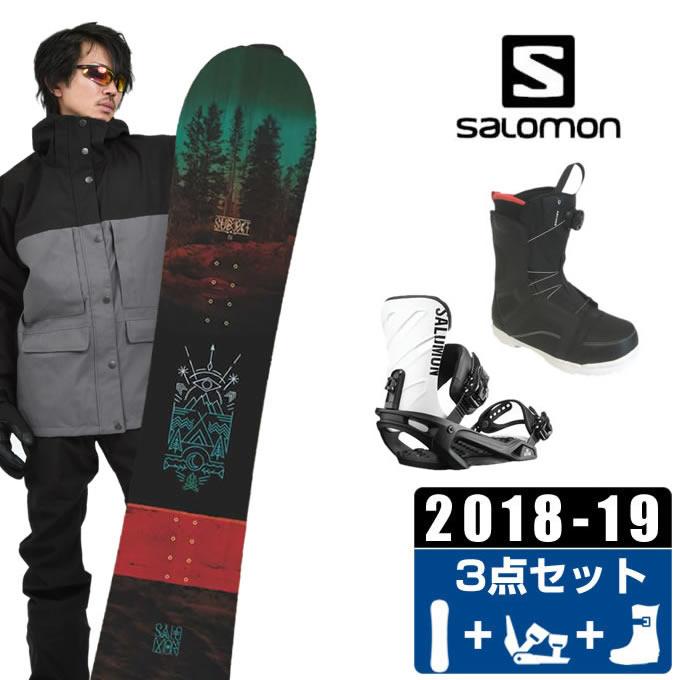 サロモン salomon スノーボード 3点セット メンズ SUBJECT MEN + KONNECT +SUPERB ボード+ビンディング+ブーツ