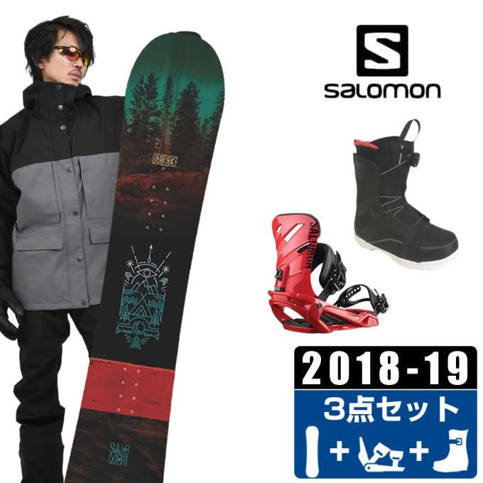 【クーポン利用で1000円引 11/18 23:59まで】 サロモン salomon スノーボード 3点セット メンズ SUBJECT MEN + RHYTHM + ANCHOR BOA ボード+ビンディング+ブーツ