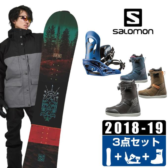 サロモン salomon スノーボード 3点セット メンズ SUBJECT MEN + PR + FL BOA ボード+ビンディング+ブーツ