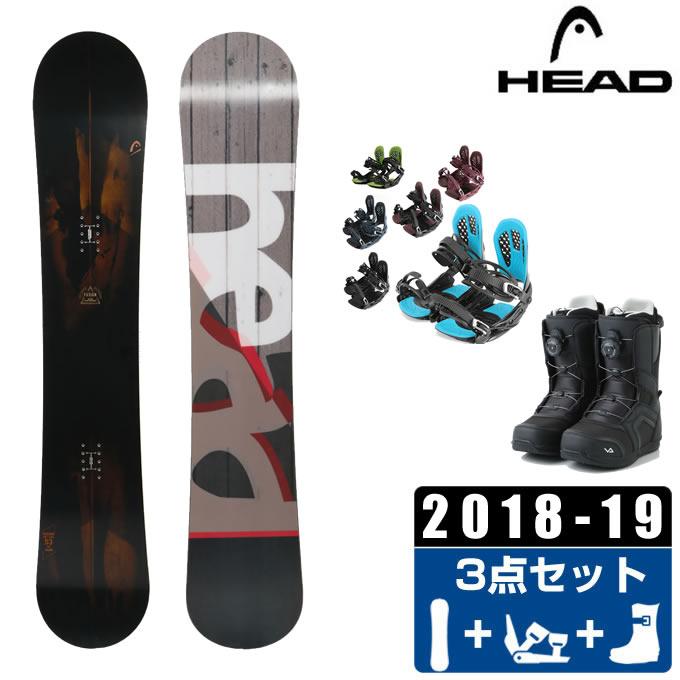 ヘッド HEAD スノーボード 3点セット メンズ FUSION + AXEL 2 + SUPERB ボード+ビンディング+ブーツ
