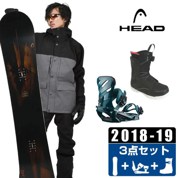 ヘッド HEAD スノーボード 3点セット メンズ FUSION + RHYTHM + ANCHOR BOA ボード+ビンディング+ブーツ