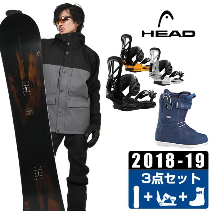 ヘッド HEAD スノーボード 3点セット メンズ FUSION + FLITE PRO + ID TEAM PF ボード+ビンディング+ブーツ