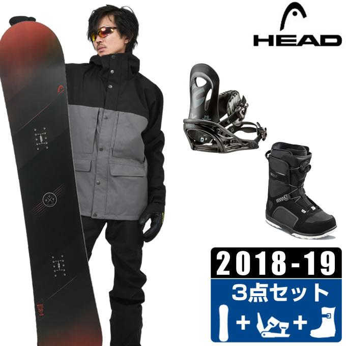 【クーポン利用で1000円引 11/18 23:59まで】 ヘッド HEAD スノーボード 3点セット メンズ WISE + PR + SCOUT PRO BOA ボード+ビンディング+ブーツ