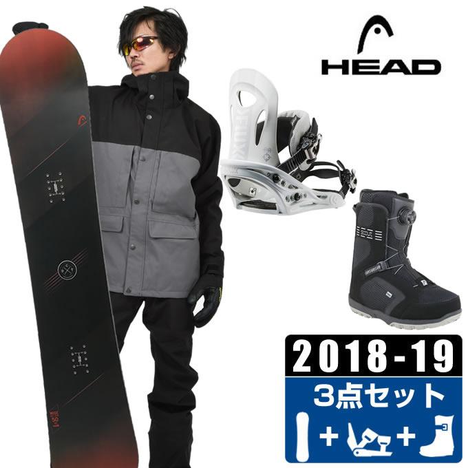 ヘッド HEAD スノーボード 3点セット メンズ WISE + PR + SCOUT PRO BOA ボード+ビンディング+ブーツ
