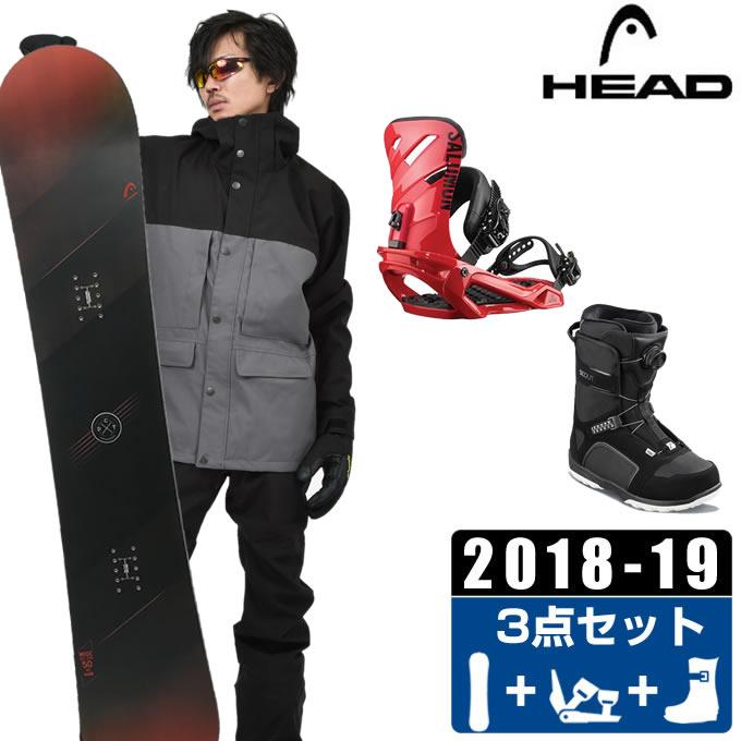 【クーポン利用で1000円引 11/18 23:59まで】 ヘッド HEAD スノーボード 3点セット メンズ WISE + RHYTHM + SCOUT PRO BOA ボード+ビンディング+ブーツ