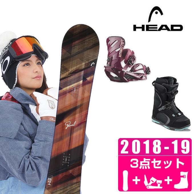 ヘッド(HEAD) スノーボード 3点セット PEARL + RHYTHM + GALORE PRO BOA ボード+ビンディング+ブーツ 【国内正規品】【18-19 2019 モデル】
