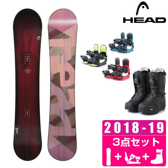 ヘッド HEAD スノーボード 3点セット レディース PURE + KONNECT + SUPERB ボード+ビンディング+ブーツ