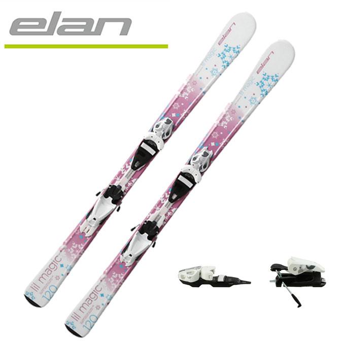 エラン ELAN ジュニア スキー板セット 金具付 板LIL MAGIC SNOWFLAKE QT:ビンディングEL4.5 AC QT SNOWFLAKE 子供用スキー 【取付無料】