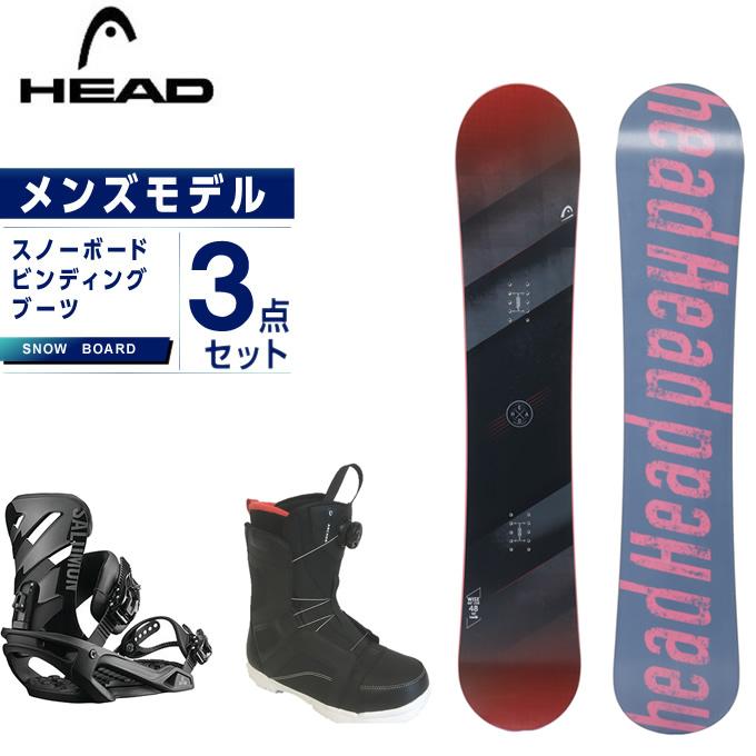 【スノーボードクーポンで10%OFF 12/19 20:00~12/26 1:59】 ヘッド HEAD スノーボード 3点セット メンズ ボード+ビンディング+ブーツ WISE + RHYTHM BLACK リズム