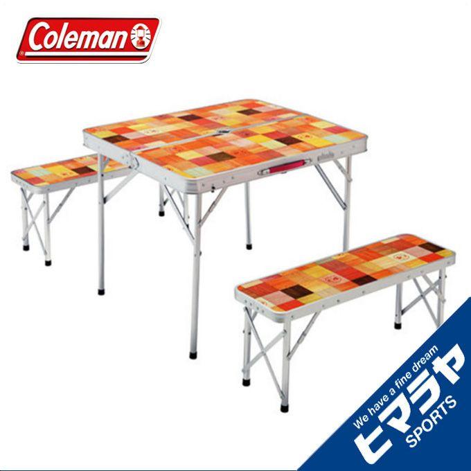 コールマン テーブルベンチセット ナチュラルモザイク ファミリーリビングセット/ミニプラス 2000026758 coleman od