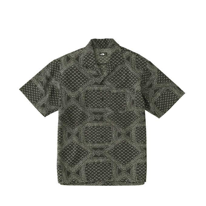 ノースフェイス 半袖シャツ メンズ ショートスリーブドットエアーシャツ Dot Air Shirt NR21805 THE NORTH FACE od