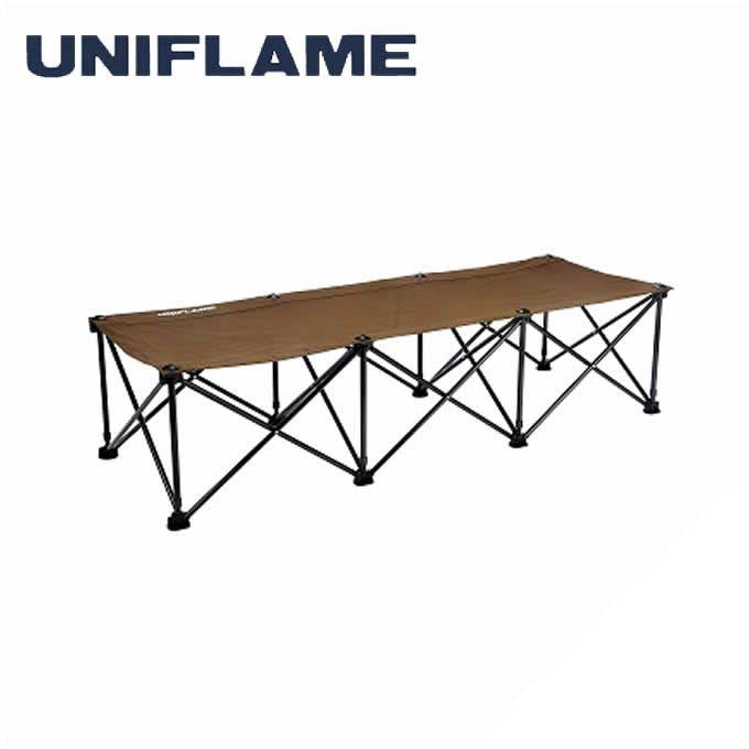 【期間限定5%OFFクーポンでお得にお買い物】 ユニフレーム UNIFLAME アウトドアベッド リラックスコット ブラウン×ブラック 680254 od