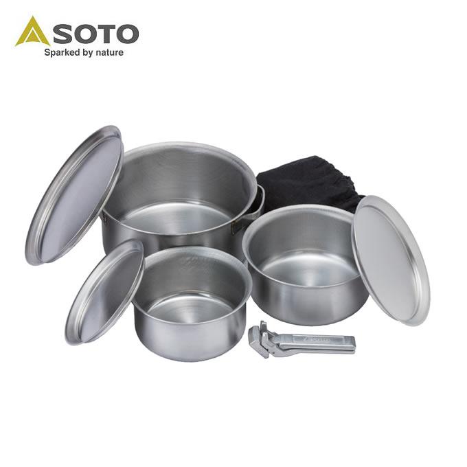 ソト SOTO 調理器具 鍋 ステンレスヘビーポット GORA ST-950 od