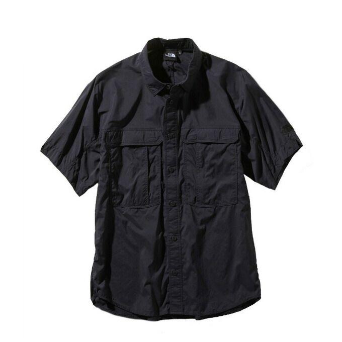ノースフェイス 半袖シャツ メンズ レディース /S Meridian Shirt メリディアン シャツ NR21963 K THE NORTH FACE od