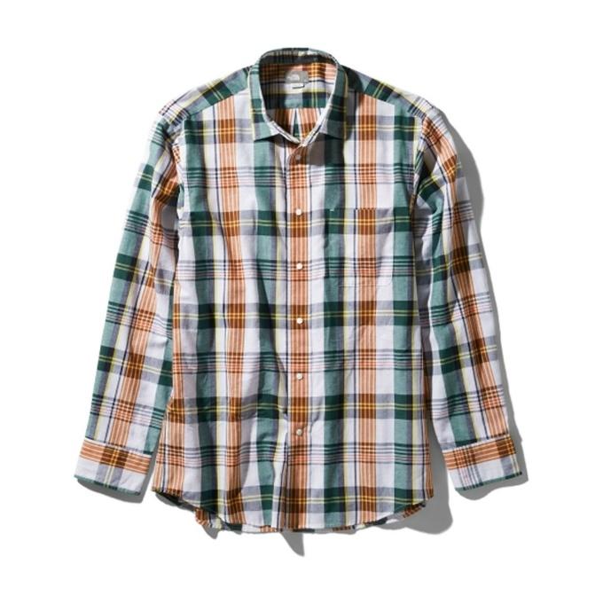 ノースフェイス 長袖シャツ メンズ バハダネイチャー ロングスリーブシャツ NR11957 G THE NORTH FACE od