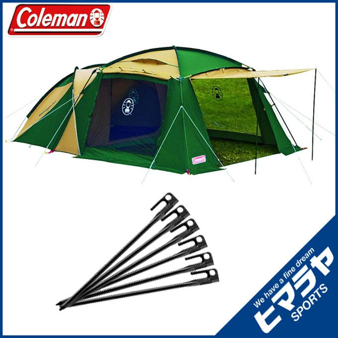 コールマン Coleman大型テントラウンドスクリーン2ルームハウススチールソリッドペグ30cm/1PC 6本170T14150J + 2000017188 od