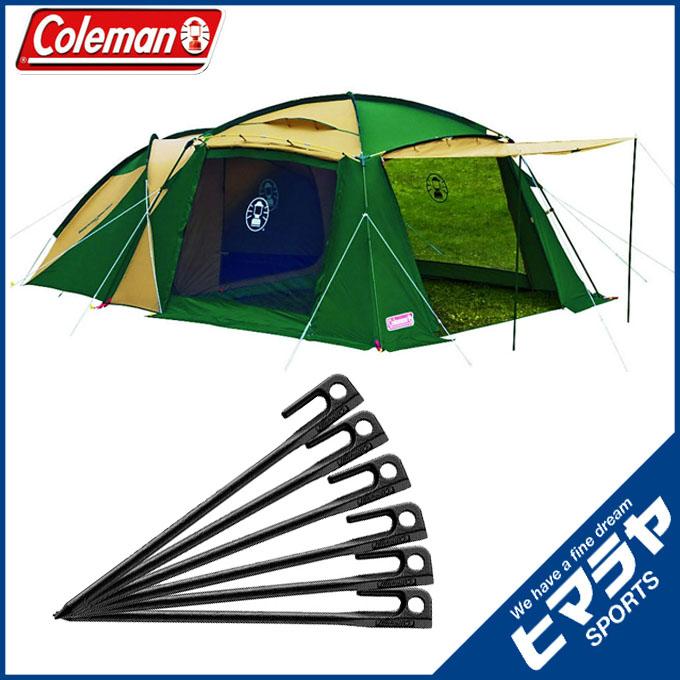 コールマン Coleman テント 大型テント ラウンドスクリーン2ルームハウス + スチールソリッドペグ20cm 6本 170T14150J + 2000017189 od