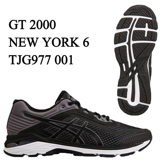 アシックス ランニングシューズ メンズ GT-2000 NEW YORK 6 ニューヨーク 6 TJG977 001 asics run