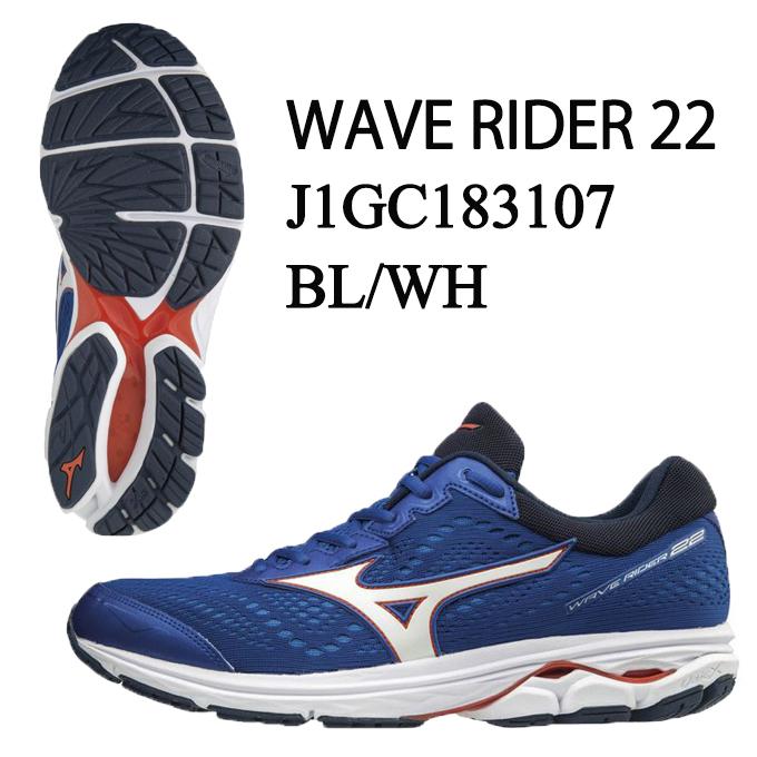 ミズノ ランニングシューズ メンズ ウェーブライダー22 WAVE RIDER22 J1GC183107 MIZUNO run