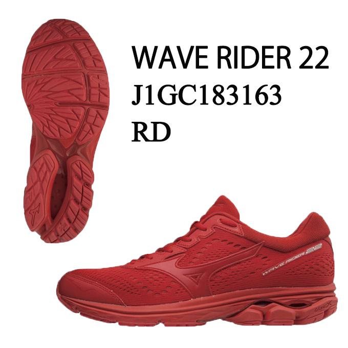 ミズノ ランニングシューズ メンズ ウェーブライダー22 WAVE RIDER22 J1GC183163 MIZUNO run