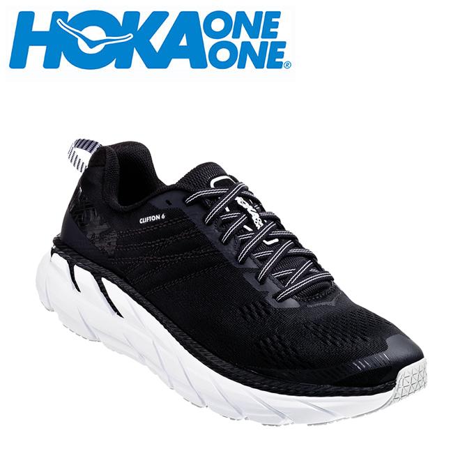 ホカ オネオネ HOKA ONEONE ランニングシューズ メンズ CLIFTON 6 クリフトン ワイド 1102876 BWHT run