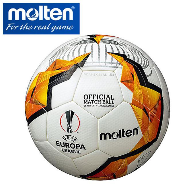 【期間限定 全品8%OFF】 モルテン molten サッカーボール 5号球 UEFA ヨーロッパリーグ 2019-20 ノックアウトステージ 試合球 F5U5003-KO sc