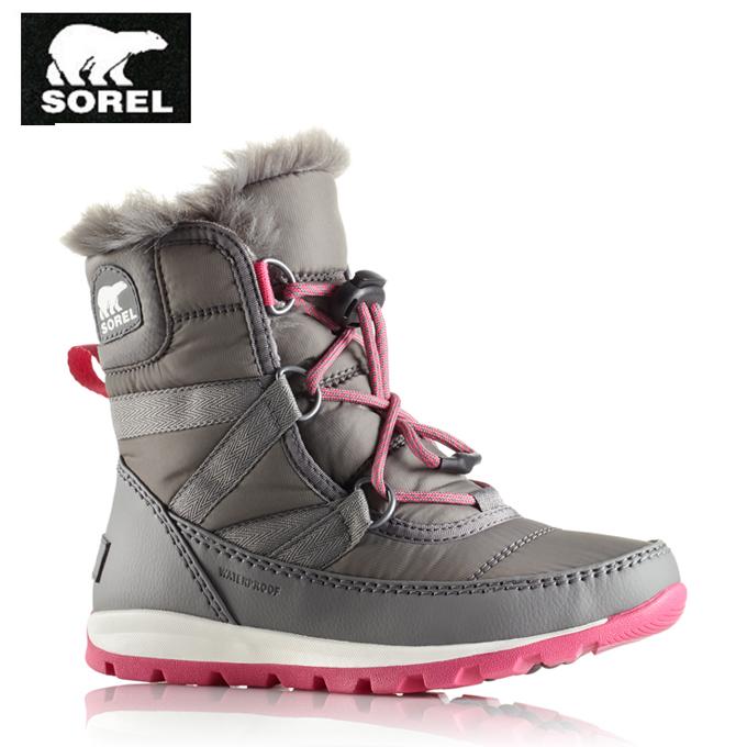【期間限定全品8%OFFクーポン発行中】ソレル SOREL スノーブーツ 冬靴 ジュニア Youth Whitney Short Lace ユースウィットニーミッドショートレース NY1897 053 tf