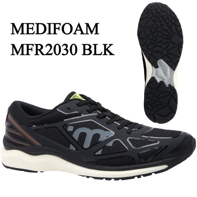 【期間限定クーポン発行中】メディフォーム MEDIFOAM ランニングシューズ メンズ MFR2030 MFR2030 BLK tf