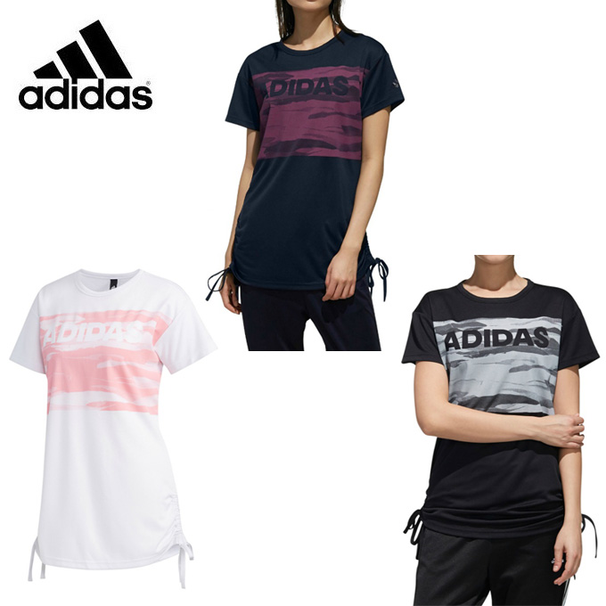 アディダス Tシャツ レディース 女性 S2S 半袖 サイド裾絞り紐付きTシャツ DV0745 FTK68 adidas sw