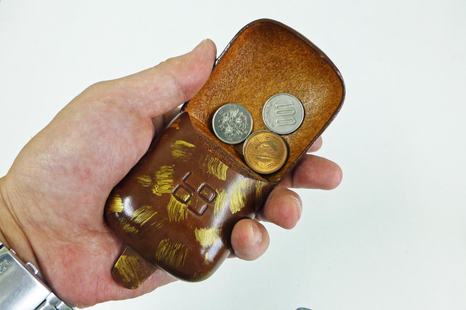 『1年保証』 スペインの職人による曲線が美しいコインケース LOLOコインケース 贈り物 スクエア スペイン製 本牛革 柄