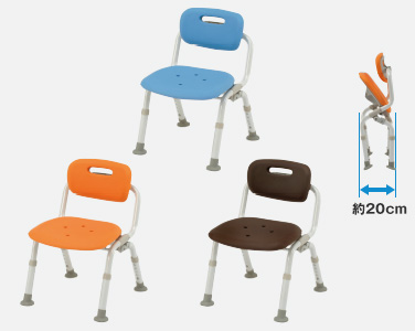 【介護 椅子】【介護用 風呂椅子】 パナソニックシャワーチェアー[ユクリア]コンパクトおりたたみNオレンジ/ブルー/モカブラウン 《入浴用品》