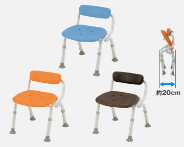 【介護 椅子】【介護用 風呂椅子】 パナソニックシャワーチェアー[ユクリア]コンパクトスツール おりたたみタイプオレンジ/ブルー/モカブラウン 《入浴用品》
