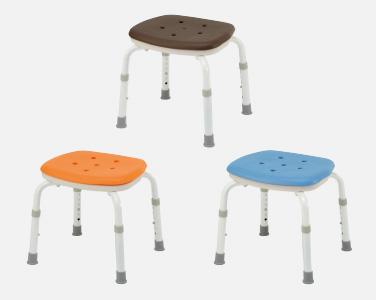 【介護 椅子】【介護用 風呂椅子】 パナソニックシャワーチェアー [ユクリア]コンパクトスツールNオレンジ/ブルー/モカブラウン 《入浴用品》